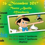 Pinocchio, storia di un burattino: martedì a Mondavio uno spettacolo dedicato a bambini e genitori