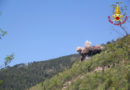 Demolito a Genga dai vigili del fuoco uno sperone di roccia pericolante