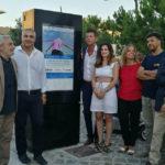 Nel centro storico di Senigallia si cambia: addio alle vecchie bacheche, è arrivato il totem multimediale