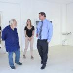 Peter Aufreiter, direttore della Galleria Nazionale e del Polo Museale delle Marche, in visita al Museo Nori De' Nobili di Trecastelli