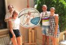 L'artista Giorgia Pettinari ha dedicato unmosaico al campione mondiale di pattinaggio Mauro Guenci