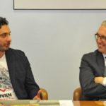 Davide Mazzanti, Ct della nazionale di pallavolo vice campione del mondo, premiato in Regione dal presidente Ceriscioli