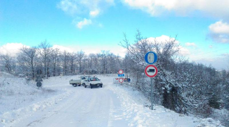 """Riaperta la strada provinciale 157 """"Fienaie"""", unico collegamento con l'Umbria dopo la chiusura del passo di Bocca Trabaria"""
