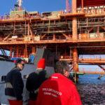 E' di un morto e due feriti il bilancio del tragico incidente sulla piattaforma dell'Eni al largo di Falconara